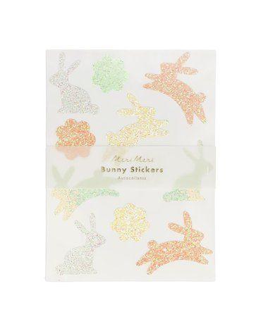 Meri Meri - Naklejki brokatowe Króliki