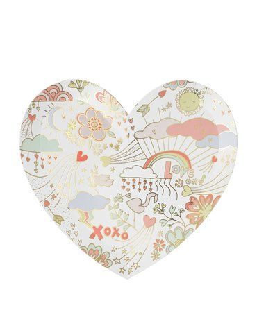 Meri Meri - Talerzyki Valentine Doodle