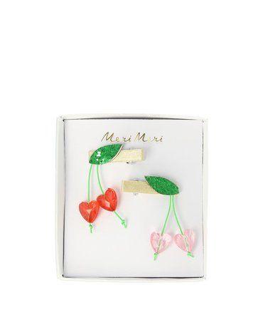 Meri Meri - Spinki do włosów Wisienki akrylowe