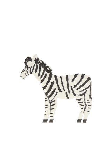 Meri Meri - Serwetki Zebra Safari