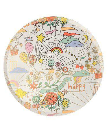 Meri Meri - Duże talerzyki Happy Doodle