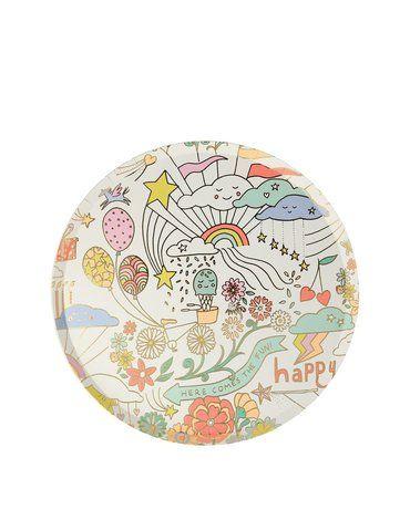 Meri Meri - Małe talerzyki Happy Doodle