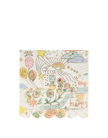 Meri Meri - Duże serwetki Happy Doodle