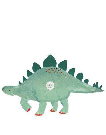 Meri Meri - Talerzyki Stegosaurus Królestwo Dinozaurów