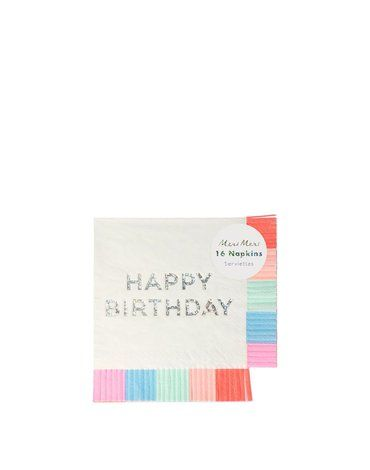 Meri Meri - Serwetki Happy Birthday Fringe