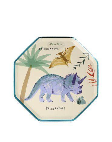 Meri Meri - Małe talerzyki Królestwo dinozaurów