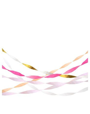 Meri Meri - Serpentyna bibułowa Różowa