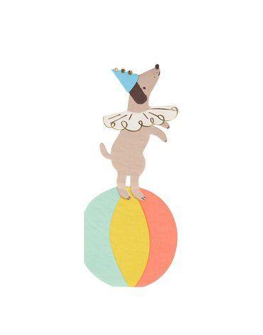 Meri Meri - Serwetki Cyrk Pies