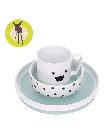 Lassig Komplet naczyń z porcelany Little Chums Pies
