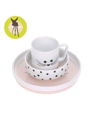 Lassig Komplet naczyń z porcelany Little Chums Mysz