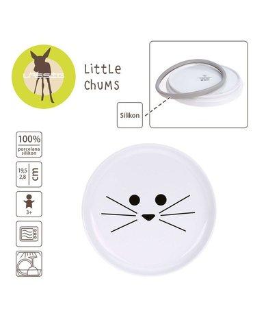 Lassig Talerz z porcelany Little Chums Kot
