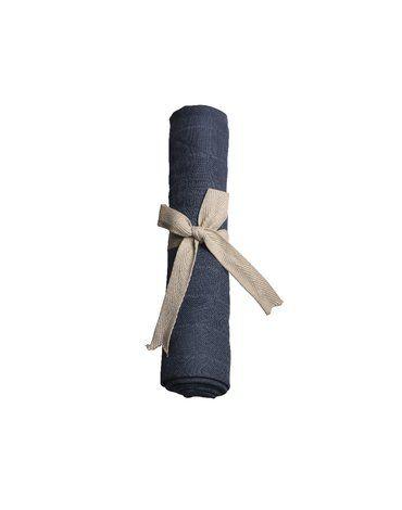 Filibabba Pieluszka muślinowa 65 x 65 cm Dark Blue