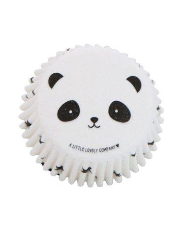 A Little Lovely Company - foremki na muffinki Panda 50 szt