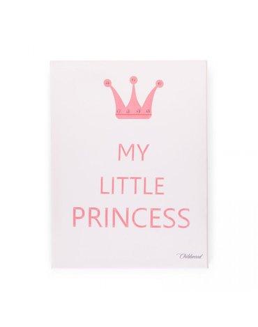 CHILDHOME - Obraz olejny LITTLE PRINCESS biały/róż 30x40