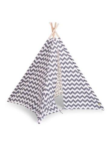CHILDHOME - Namiot Tipi Grey/White Zigzag