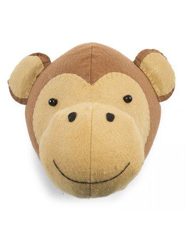 CHILDHOME - Filcowa głowa małpki na scianę