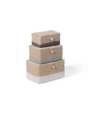 CHILDHOME - Zamykane koszyki papierowe zestaw 3 szt.