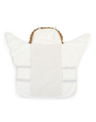 CHILDHOME - Mata do przewijania Angel Jersey Crochet Ecru