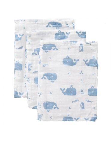Fresk Myjki zestaw 3 szt. Wieloryb Blue fog