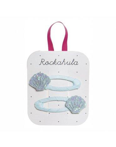 Rockahula Kids - spinki do włosów Shimmer Shell Blue