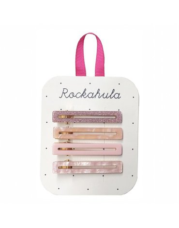 Rockahula Kids - spinki do włosów Retro Bar Pink