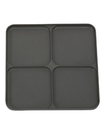Filibabba Bambusowy talerz dzielony na 4 Dark Grey