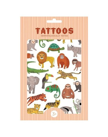 Petit Monkey - Tattoo Jungle Animals imprezowy zestaw tatuaży