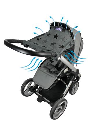 Xplorys - Osłonka do wózka i fotelika Dooky Design Grey Stars
