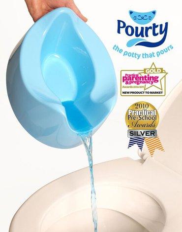 Genialny nocnik Pourty - Niebieski