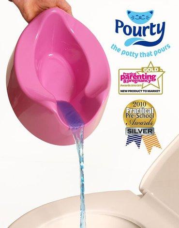 Genialny nocnik Pourty - Różowy