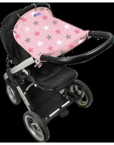 Xplorys - Osłonka do wózka i fotelika Dooky Design - Baby Pink/Pink Stars