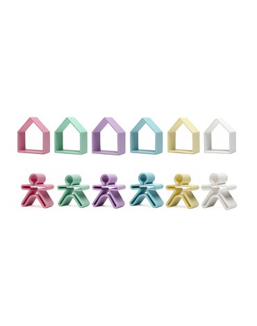 Moluk - DENA 6 x Kid + 6 x House PASTEL