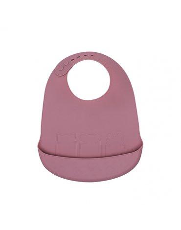 Zestaw śliniaków silikonowych z kieszonką We Might Be Tiny - Dusty Rose + Powder Pink