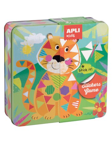 Zestaw kreatywny z naklejkami Apli Kids - Tygrys
