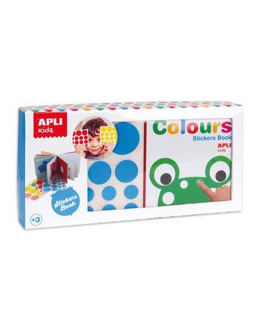 Moja pierwsza książka z naklejkami Apli Kids - Kolory