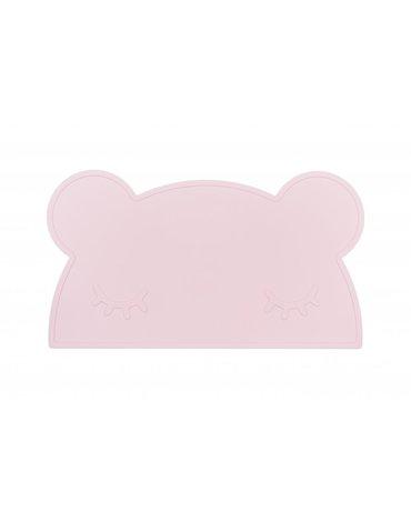 Silikonowa podkładka Miś We Might Be Tiny - Powder Pink