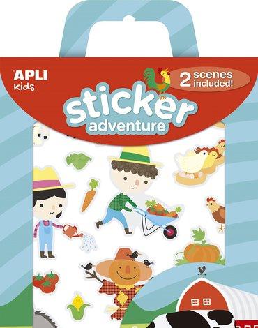 Zestaw naklejek z 2 planszami Apli Kids - Farma