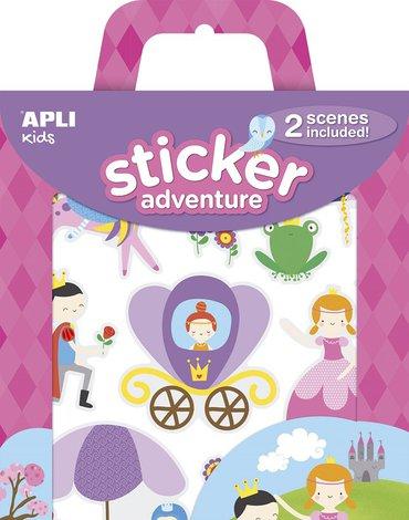 Zestaw naklejek z 2 planszami Apli Kids - Księżniczka