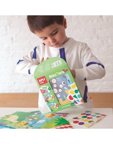 Plansze do wyklejania Kolory i Kształty Apli Kids - Ocean