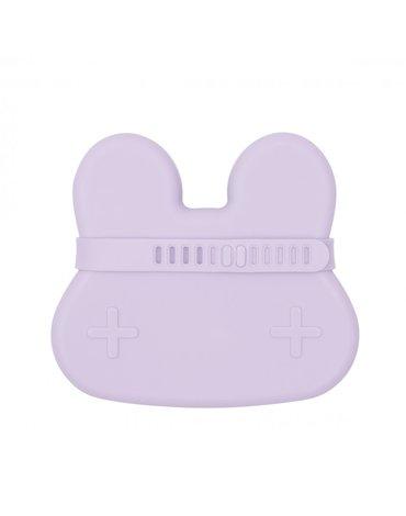 Zamykany silikonowy pojemnik Króliczek We Might Be Tiny - Lilac