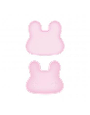 Zamykany silikonowy pojemnik Króliczek We Might Be Tiny - Powder Pink