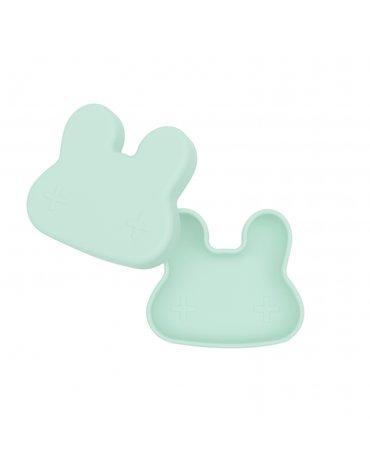 Zamykany silikonowy pojemnik Króliczek We Might Be Tiny - Minty Green