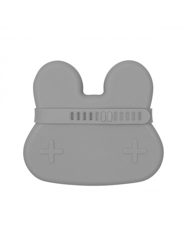 Zamykany silikonowy pojemnik Króliczek We Might Be Tiny - Dark Grey