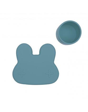 Zamykany silikonowy pojemnik Króliczek We Might Be Tiny - Blue Dusk