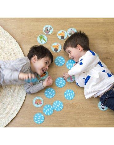 Memory w kartonowym domku Apli Kids - Safari