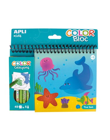 Kolorowanka z kredkami Apli Kids - Ocean