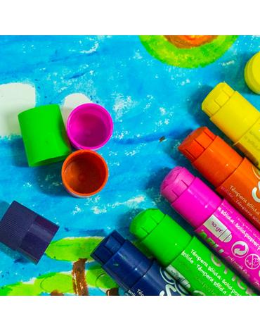 Farby w kredce Apli Kids - 6 kolorów
