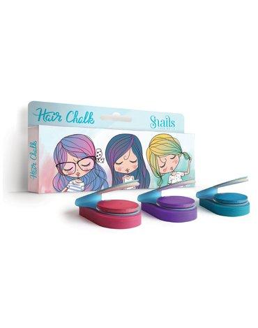 Zmywalne kredy do włosów Hair Chalk Snails - 3szt.