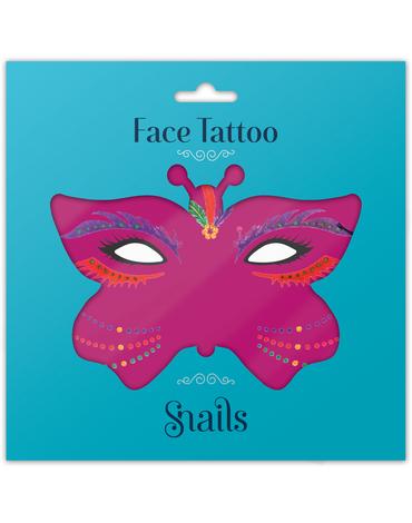 Naklejki na twarz Face Tattoo Snails - Brasil