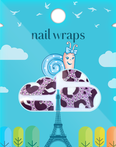 Naklejany lakier Nail Wraps Snails - Purple Zebra